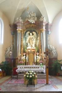 Hlavní oltář kostela - makro
